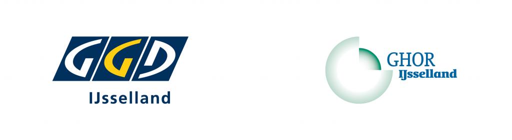 Logo GGD IJssellen en het logo van GHOR IJsselland